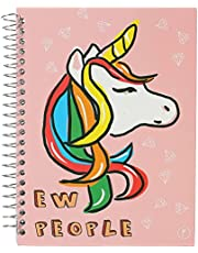 YM Sketch Unicorn Printed Spiral Notebook, A5 - Multi Color