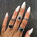 by lucky 5Pcs/Set Vintage Retro Knuckle Ring Band Midi Rings Stacking Ring Set Women Gift