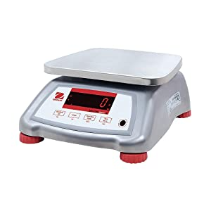 Ohaus V22XWE15T Valor 2000 Food Scale, Stainless Steel, 15 kg Capacity