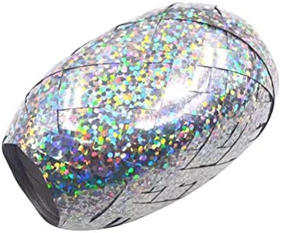 YeahiBaby 光沢のあるカーリングリボンロールバレンタインギフト用金属紐工芸リボン包装(シルバー)