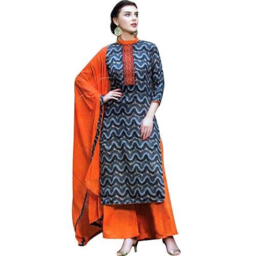 Ready to Wear Designer Print Embroidery Cotton Salwar Kameez Suit
