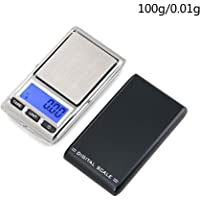 Auppova Portable Digital Kitchen Jewelry Scale Slim Stainless Steel Electronic Scales