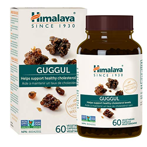Himalaya Guggul, for Healthy Cholesterol and Triglyceride Levels, 60 Capsules, 750 mg (Guggul Gold)