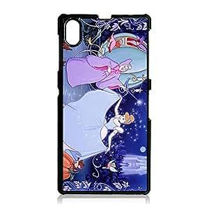 Popular Style Cartoon Cinderella Phone Case for Sony Xperia Z1 Wonderful Design Disney Comic Cinderella Mobile Phone Case