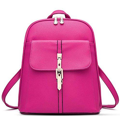 pu function Leather Casual Multi Women's Handbag Bag 13 Backpack 30cm Soft Fashion 28 qYRwzIHH