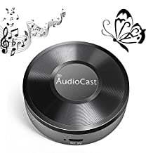 Wifi Audio Receiver, Wifi Music Receiver, Wireless Audio Adapter, Wifi Audio Streaming Receiver DLNA Airplay Sharing Music Wireless Multi-Room Audio Adapter for your Speakers (Featuring Airplay Spotify)