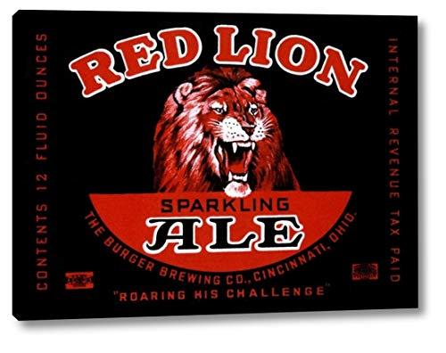 Red Lion Ale by Vintage Booze Labels - 9