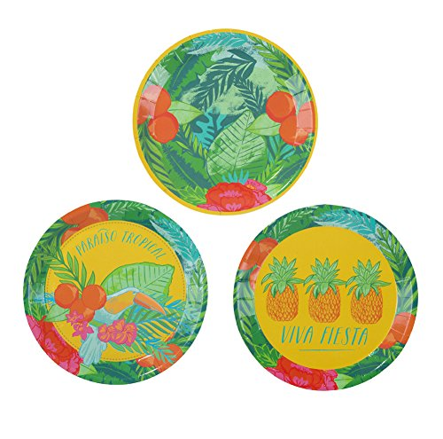 Luau-Party-Hawaiian-Party-Party-Supplies-Paper-Plates-Cocktail-Size-5-Diameter