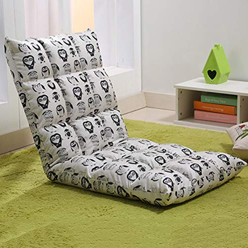 YHSGD Silla de Piso Silla de computadora Respaldo Plegable Tatami Lazy Couch Graffiti Transpirable Multiples Posiciones Extraibles y Lavables,C