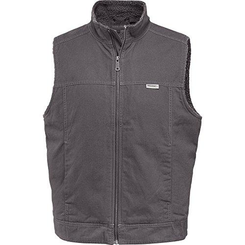 Chest Pocket Lined Vest - Wolverine Men's Porter Sherpa Lined Vest, Granite, X-Large