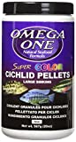 Omega One Super Color Cichlid Pellet - Large Sinking 20oz.