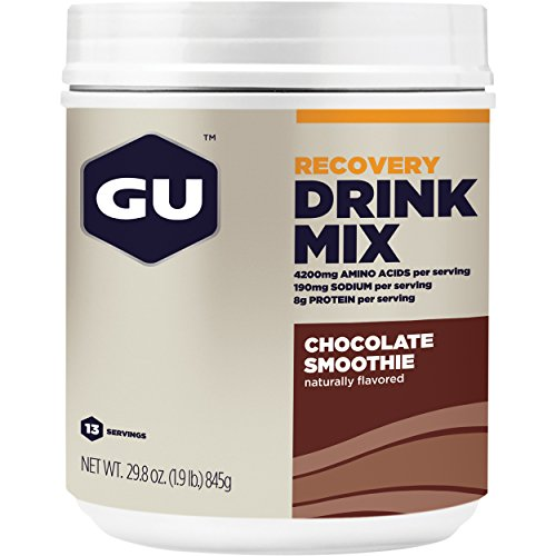 GU Energy Recovery Protein Drink Mix, Chocolate Smoothie, 1.86 Pound (Mix Drink Beverage Performance)