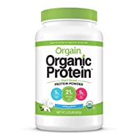 Orgain Organic Plant Based Protein Powder, Vanilla Bean - Vegan, Low Net Carbs,...