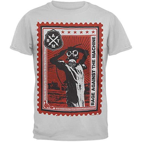 Old Glory Rage Against The Machine - Mens Postage Stamp Soft T-Shirt Medium White
