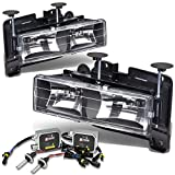 92 chevy 1500 hid headlights - For GMC/Chevy C/K Suburban/Yukon/Tahoe/Blazer Headlight Lamp (Black Housing)+12000K HID+Thick Ballasts - 4th Gen GMT400