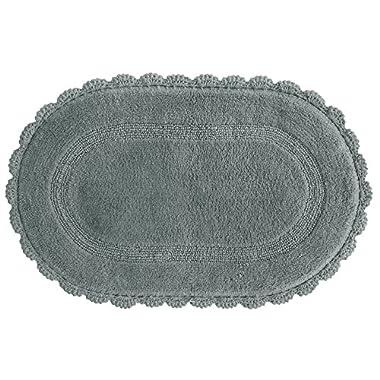 Bacova Guild Jessica Simpson Carlin Reversible Bath Rug, Neutral Gray