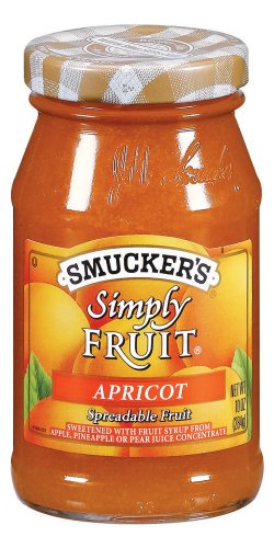 Smuckers Simply Fruit - Smucker's  Simply Fruit  Apricot Spreadable Fruit, 10-Ounce (Pack of 6)