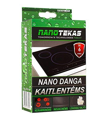 Protective Nano Coating Kit For Cook Tops, Heating Plates, Ceramic Heaters & Induction Heaters Nanotekas | Easy Clean & Protects from Dirt Sticking Ceramic Self Cleaning Cooktop