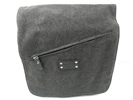 Leather Emporium Men s Quality Canvas Messenger Bag 2591 One Size Black ef8213c4605