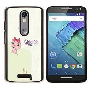 YiPhone /// Prima de resorte delgada de la cubierta del caso de Shell Armor - Risitas divertida del humor Cita lema de la historieta - Motorola Moto X3 3rd Generation