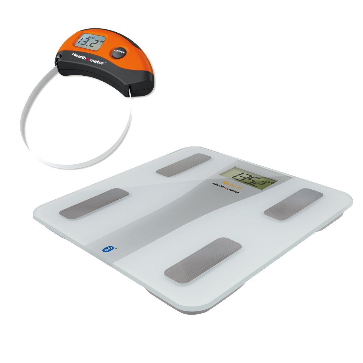 Health o meter BFM147DQ-01DT Lose It Wireless Body Fat Scale with Digital Tape Measure, 5.1 Pound