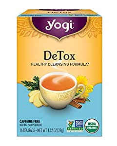 Yogi Tea, Detox, 16 Count, (Pack of 6), Packaging May Vary