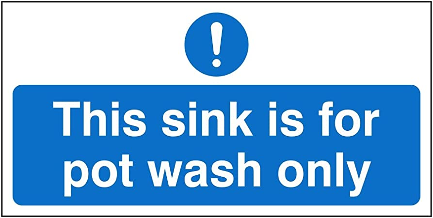 This Sink Is For Pot Wash Only  200mm x 100mm  1MM RIGID PLASTIC