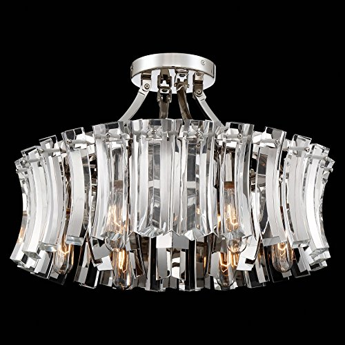 Metropolitan N7255-613 Elegance Royale Semi Flush Mount, 6-Light 360 Total Watts, Polished Nickel