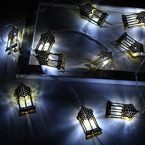 (CCatyam Ramadan and Eid Decor Lights LED Fairy String Light Home Festival Party Bedroom Birthday Decoration Favor Nice DIY Tropical (White))