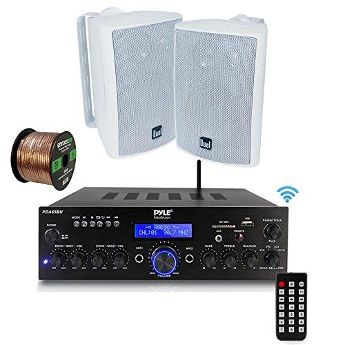 Pyle PDA65BU Amplifier Receiver Stereo, Bluetooth, FM Radio,
