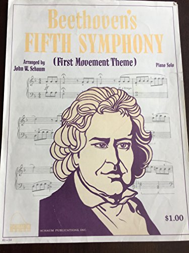 Beethoven's 5th Symphony (Opening Theme, First Movement) - By Ludwig van Beethoven / arr. John W. Schaum - ()
