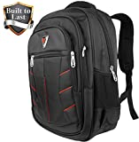 Waterproof Backpack with Laptop Sleeve - Black & Red Men School or Travel Accessories Bag