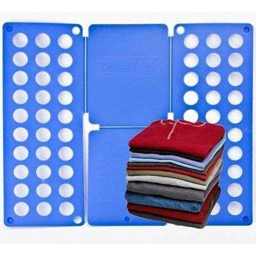 Folding Flip and Fold Adult T-Shirt Top Clothes Folder Organiser - Fold T  Shirts In A Few Easy Steps