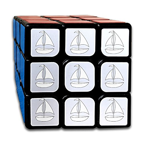 Sea Canvas Boat Clip Art 3-D Puzzle Cube Easy Turning 3x3 Rubik's Cube Adult Children 3by3 Magic Square Toys For Anti Stress Intellectual Training (Clipart Boat)
