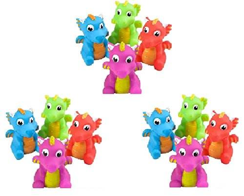 Novelty Treasures Dragon Squirts NT5842 Set of 12 Playful Bathtub and Birthday Party Goody Bag Toys]()