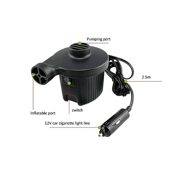 Amazon.com: Bomba de aire con 3 boquillas, 110 – 120 V CA/12 ...
