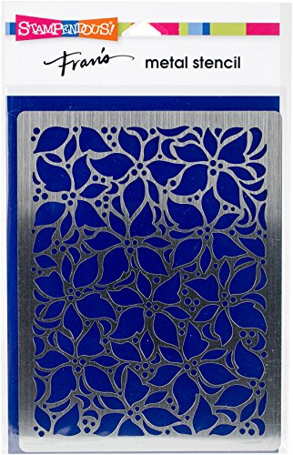 Stampendous FMS4081 Poinsettia Pattern Metal Stencil ()