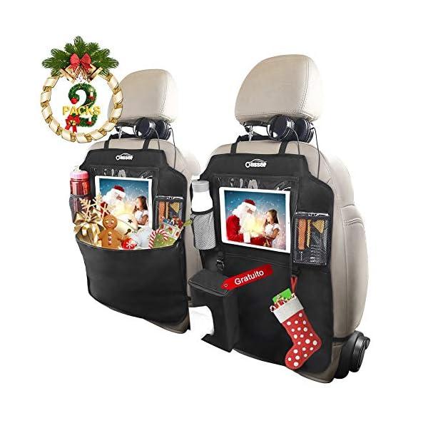 Oasser Protezione Sedili Auto Bambini 2pcs Proteggi Sedile Organizzatore Sedile Posteriore Impermeabile Supporto 1
