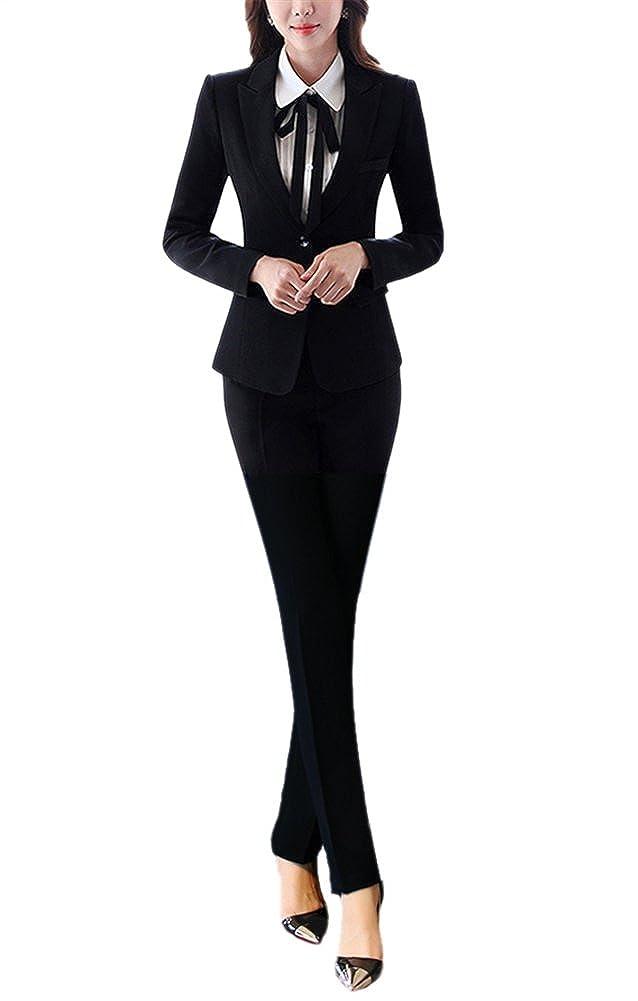 SK Studio Women's 2 Piece Formal Skirt and Belt Blazer Suits Suits