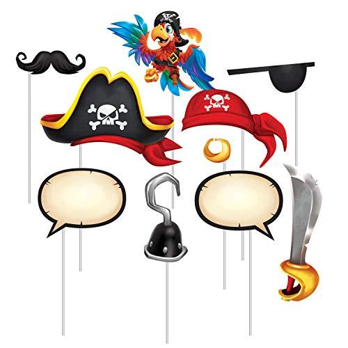 Treasure Island Pirate Photo Booth Props, 10