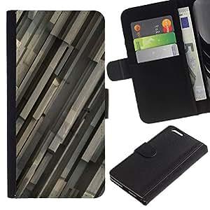All Phone Most Case / Oferta Especial Cáscara Funda de cuero Monedero Cubierta de proteccion Caso / Wallet Case for Apple Iphone 6 PLUS 5.5 // Gray Pattern