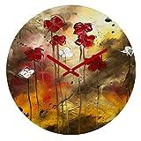 Deny Designs Madart Inc. Floral Arrangement 12-inch Round Clock For Sale