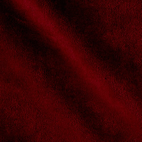 Cotton Velour Fabric - Mike Cannety Textiles Solid Velour Burgundy Fabric by The Yard,