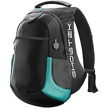 Laptop Backpack, Ghostek NRGbag 2 Series Slim Durable Smart Tech Bag With 3 USB Charging Ports School Multifunction Bookbag for College Travel Protection 16,000mAh Macbook iPad Tablets (Teal)