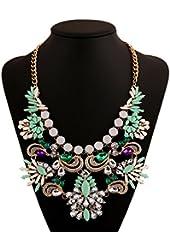 Starkyue Women Gold Chain Butterfly Charm Pendant Big Chunky Bib Statement Necklace Rings Set