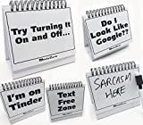 #6: Moodycards - Funny Office Gifts - Over 30 Different Mood and Practical Flip-Over Messages - includes Erasable Pen and blank boards to write your own.