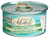 Fancy Feast Elegant Medleys for Cats, Tender Turkey Primavera in a Classic Sauce with Garden Veggies and Greens, 3-Ounce Cans (Pack of 24), My Pet Supplies