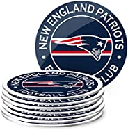 NFL Eight Pack Stripe Coasters (New England Patriots)