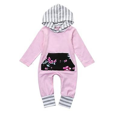 für die ganze Familie geringster Preis offizielle Fotos Baby Strampler Longra Baby Mädchen Blumendruck Streifen ...