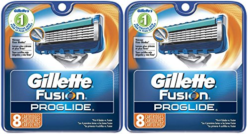 Price comparison product image Gillette Fusion ProGlide Manual Razor Replacement Cartridge-16 Count ( 2 Packs of 8)